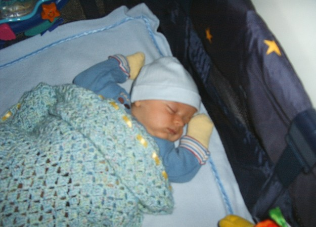 Luke sleeps