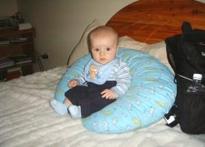 Luke sits up