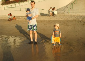 The Meier boys on the beach